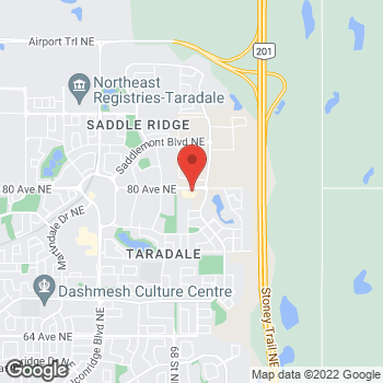 Map of Tim Hortons at 7170 80th Ave Ne, Calgary, AB T3J 0P6