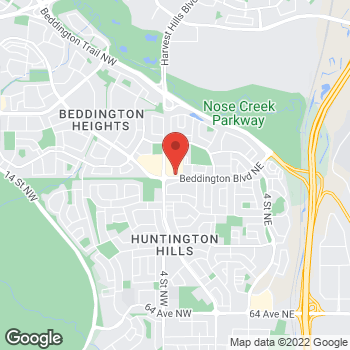 Map of Tim Hortons at 100 Beddington Blvd Ne, Calgary, AB T3K 2E2
