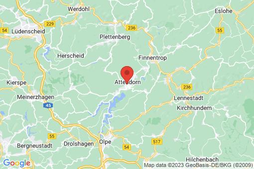 Karte Attendorn