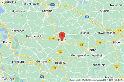 Karte Colditz