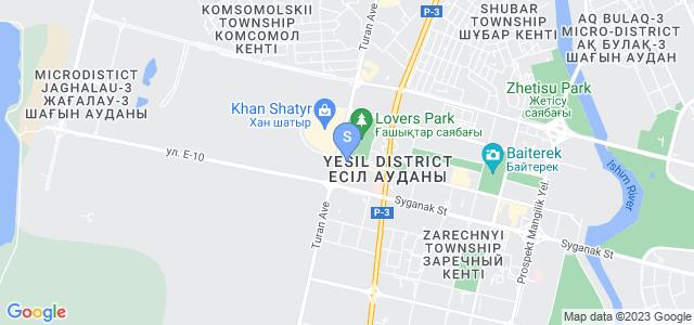Location of Astana Marriott on map