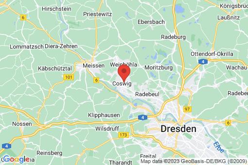 Karte Coswig