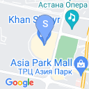 map for Khan Shatyr (The King Tent), Astana, Kazakhstan