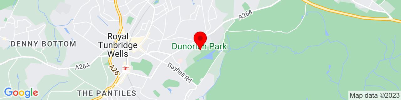 Google Map of 51.13333333333333, 0.2833333333333333
