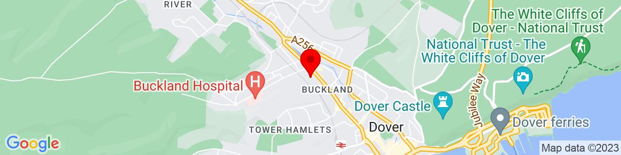 Google Map of 51.13333333333333, 1.3