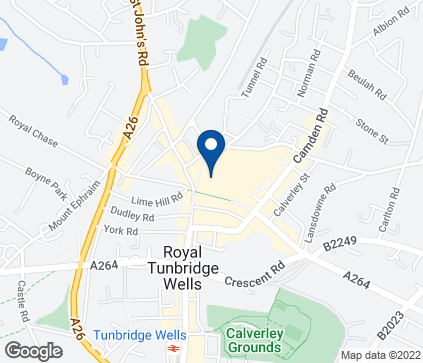Map of 7-11 Calverley Road in Tunbridge Wells