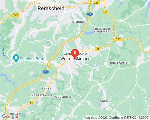 Google Karte von Rohrreinigung Wermelskirchen