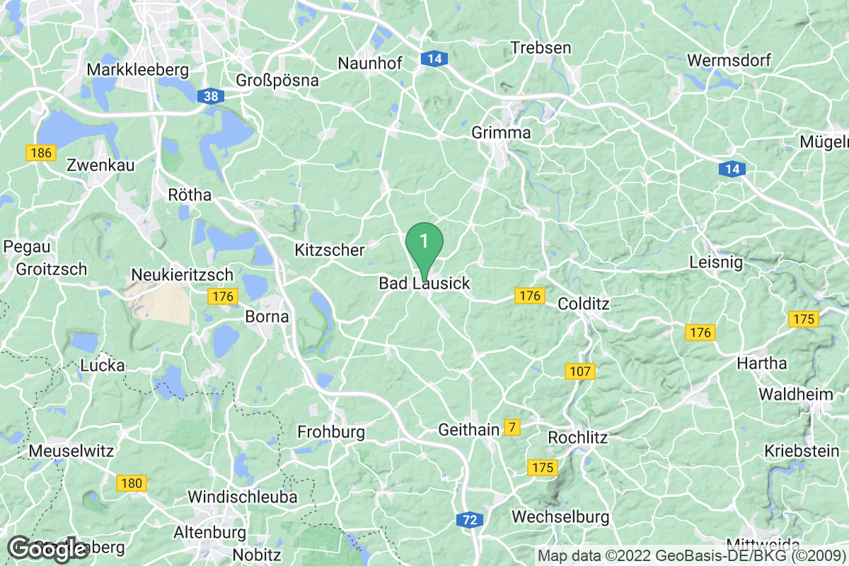 Google Map of Bad Lausick