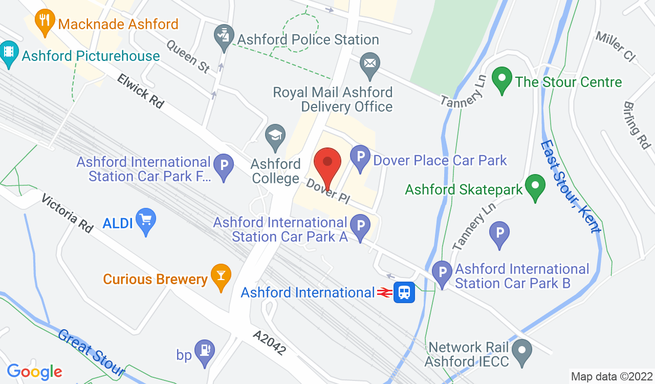 Google Map of Coachworks, Ashford, UK