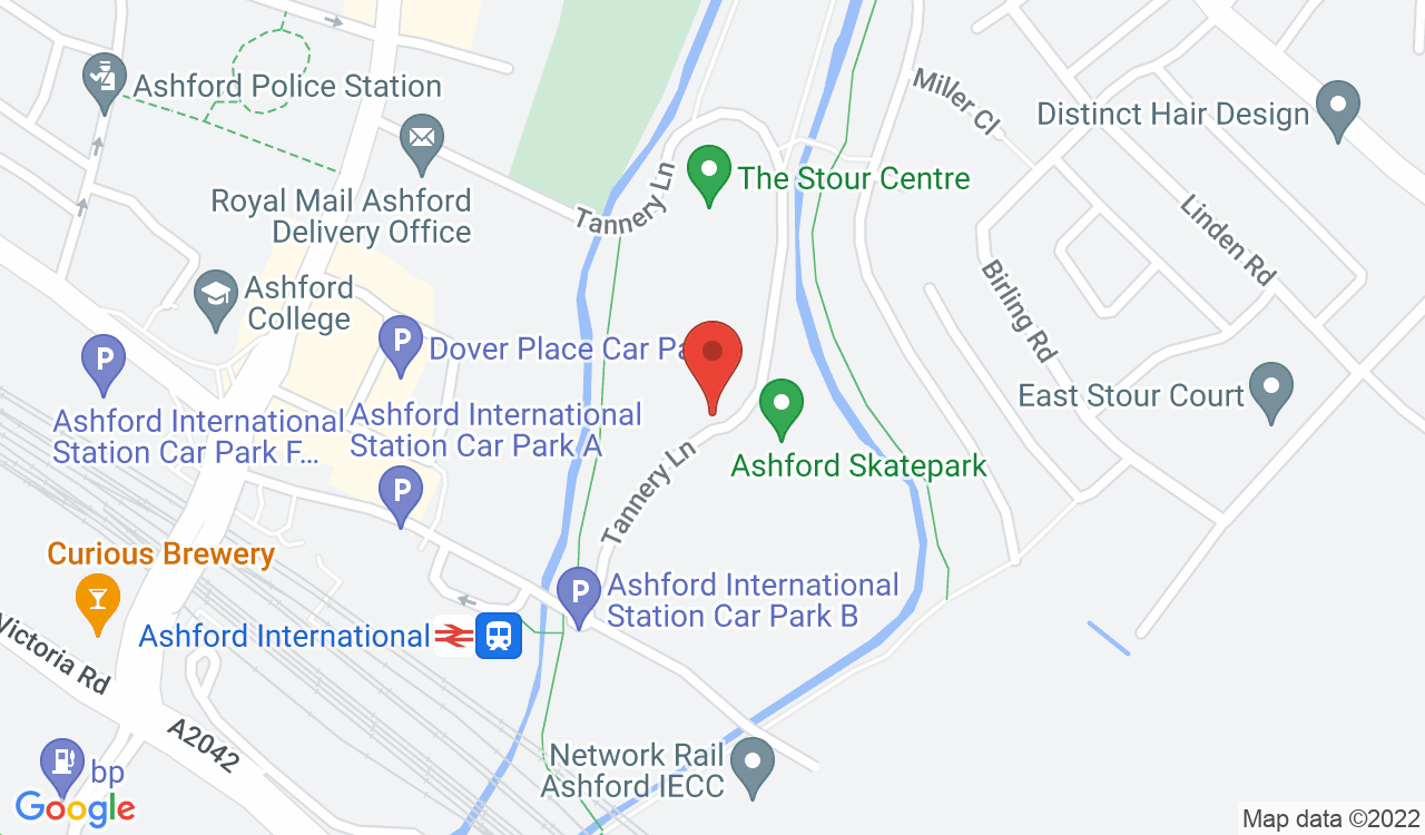 Google Map of Sk8side Youth Centre, Ashford, UK