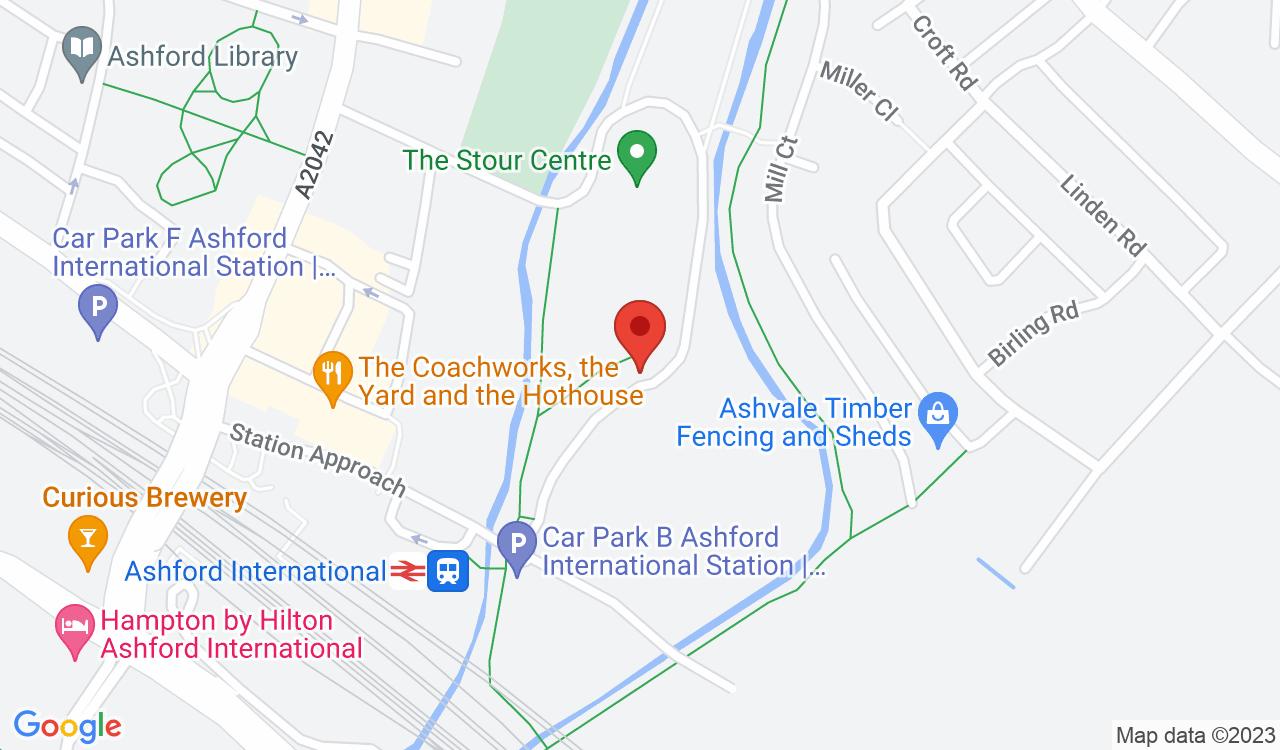 Google Map of Sk8side Youth Centre, Ashford, UK
