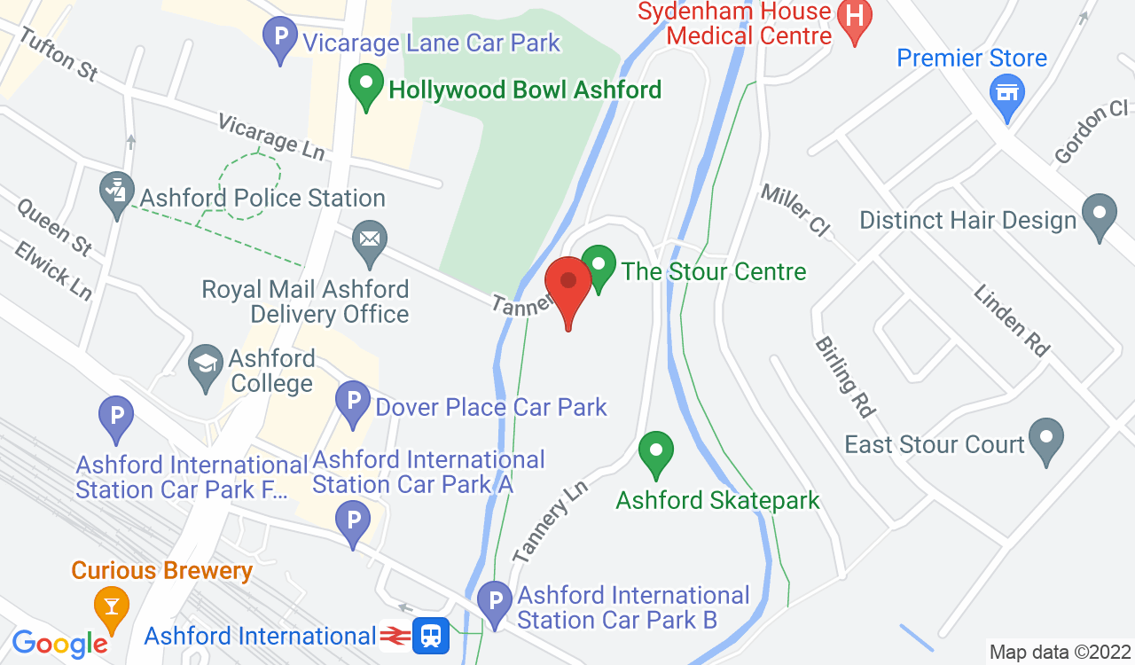 Google Map of Ashford Leisure Trust, Ashford, UK