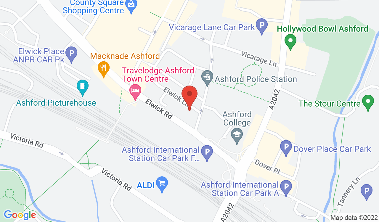 Google Map of Discoverable, Ashford, UK