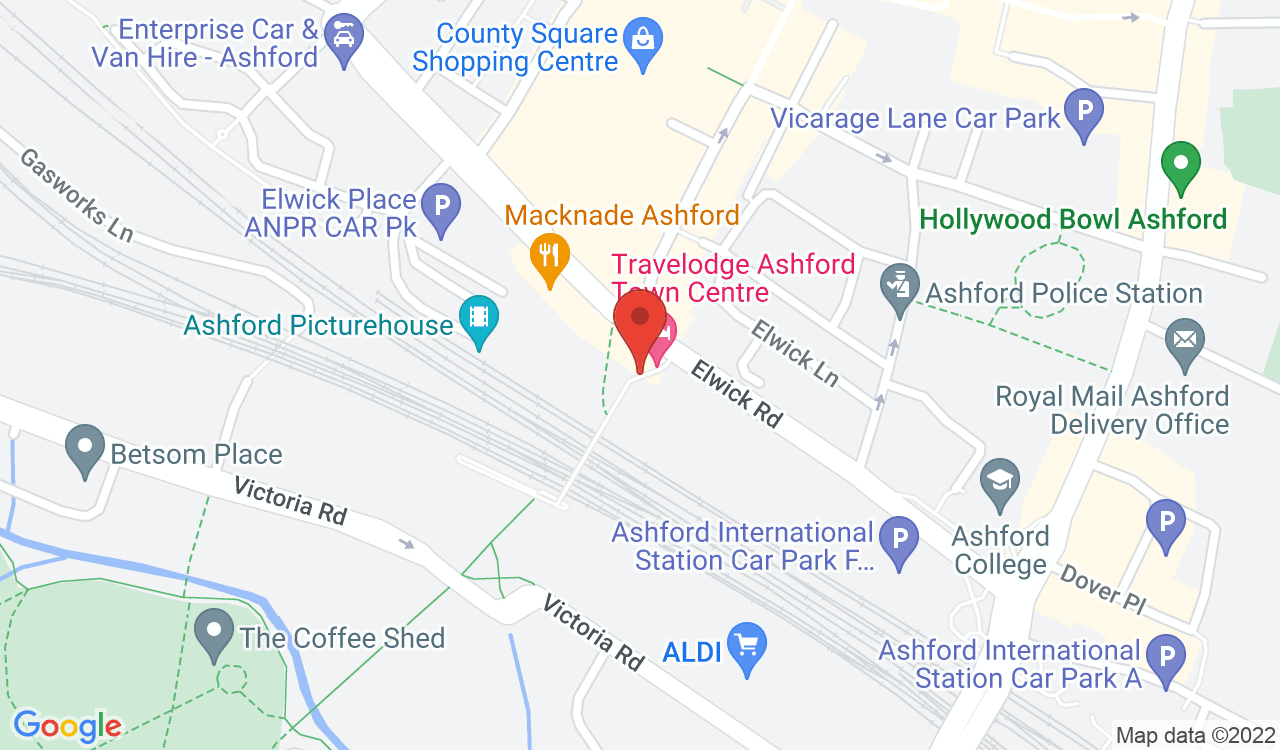Google Map of Macknade Fine Food, Ashford, UK