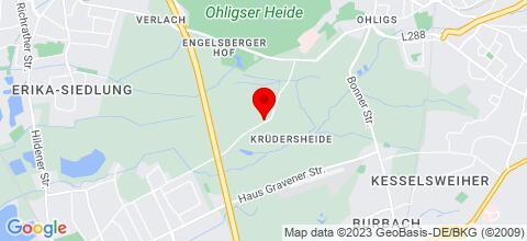 Google Map für Monteurwohnung in Langenfeld