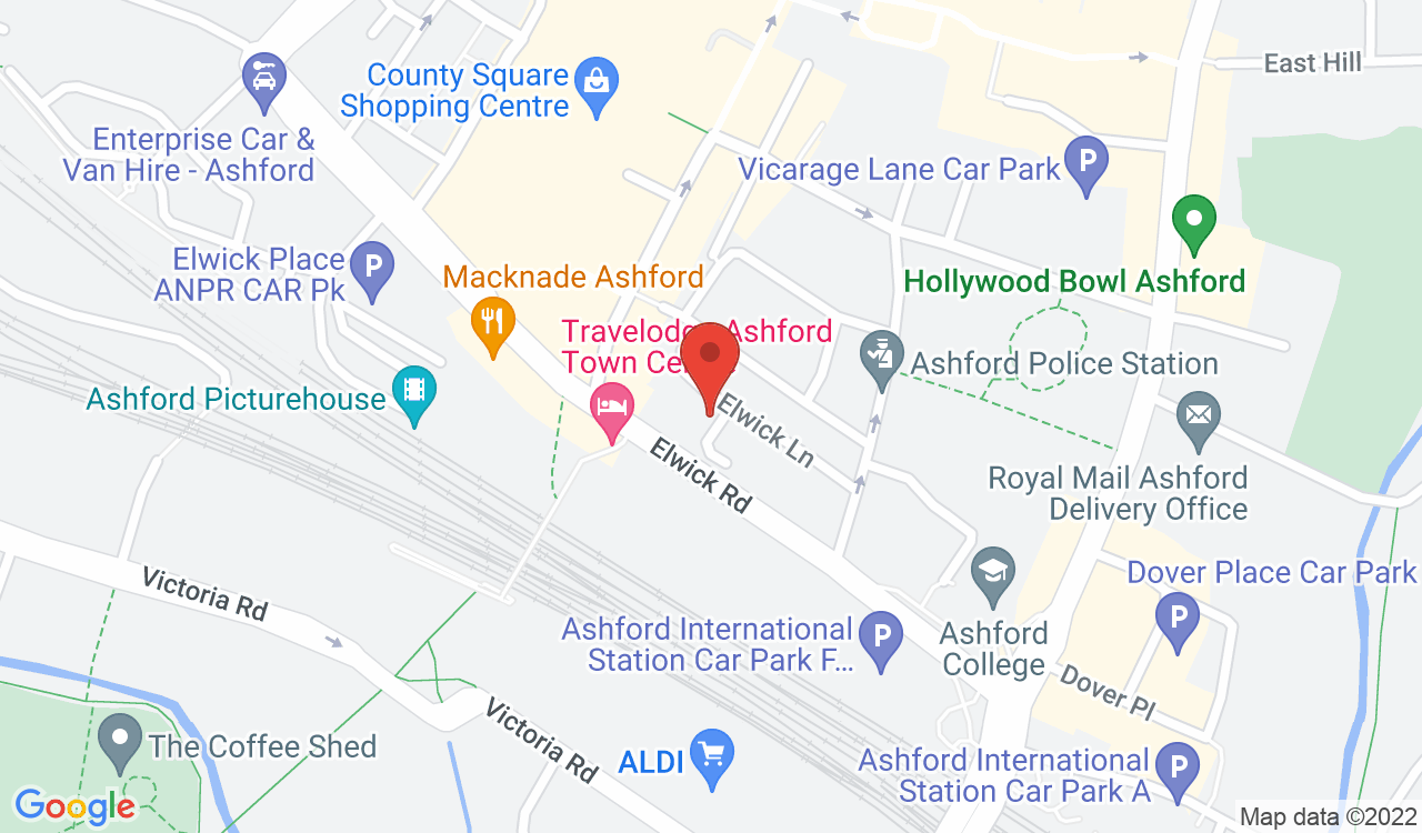 Google Map of Hairyhand / HH Creative Agency, Ashford, UK