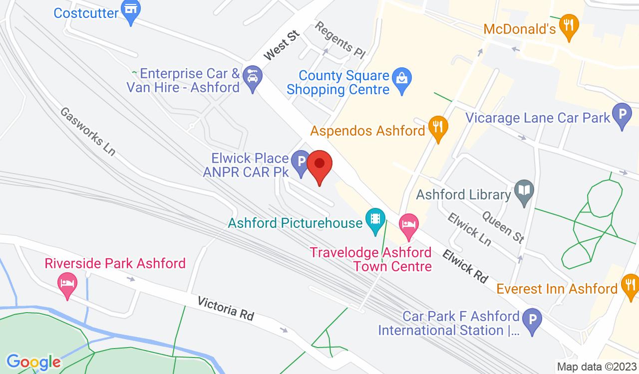 Google Map of Ashford Picturehouse, Ashford, UK