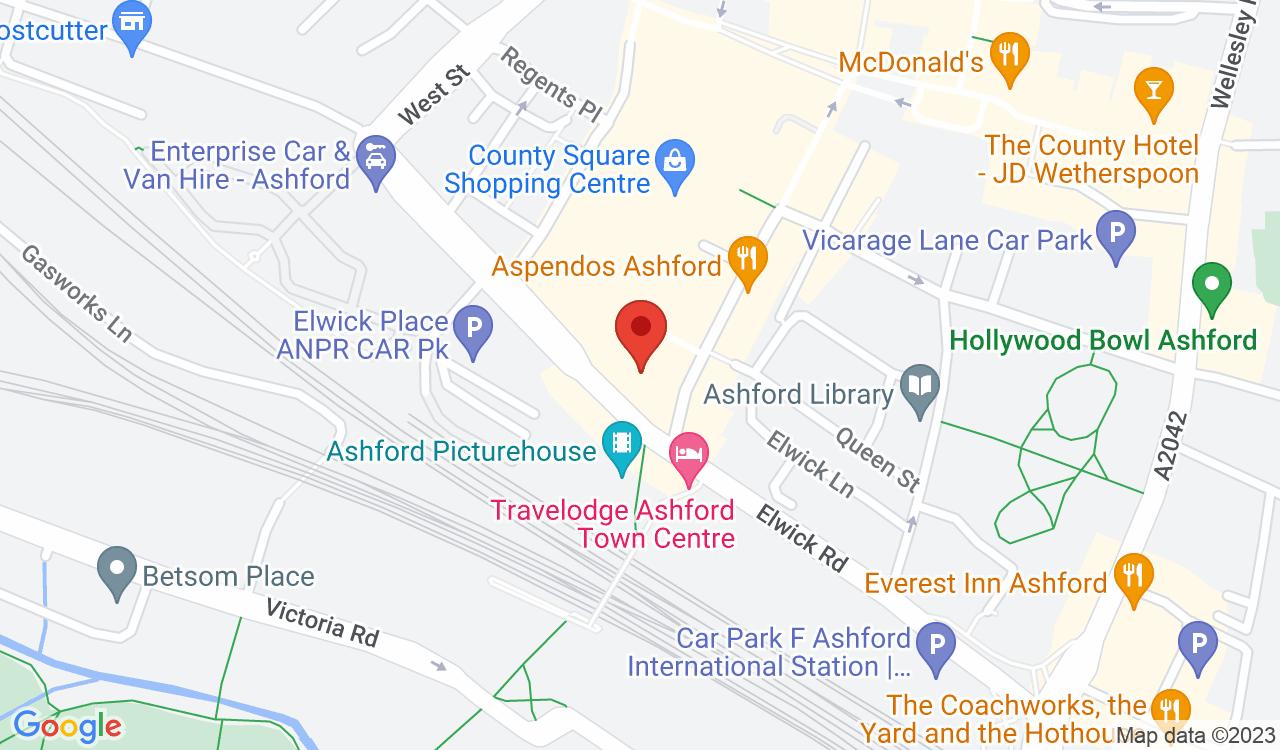 Google Map of Debenhams, Ashford, UK