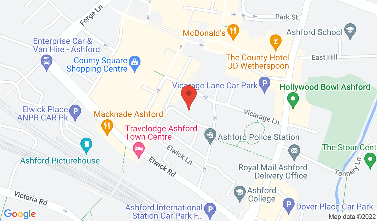Google Map of Ashford Mediation Service, Ashford, UK