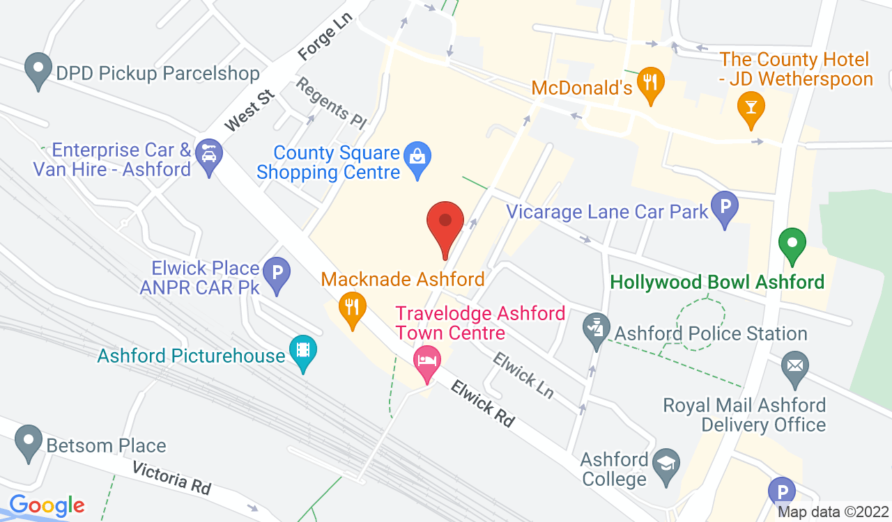 Google Map of Trattoria Romana, Ashford, UK
