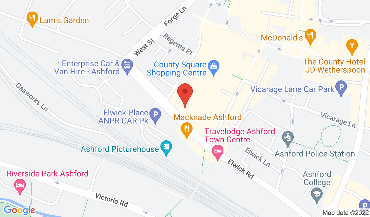 Google Map of Next, Ashford, UK