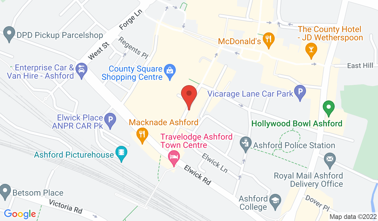 Google Map of India House, Ashford, UK