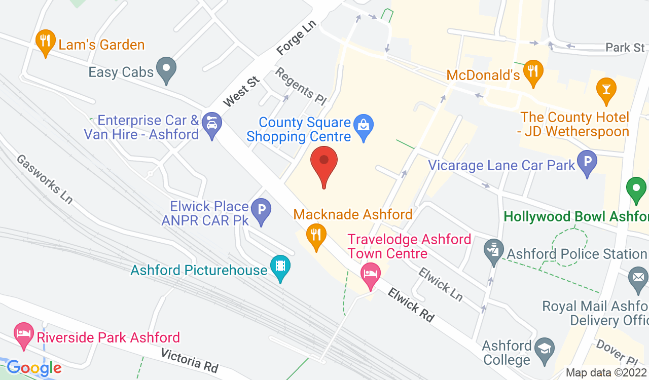 Google Map of New Look, Ashford, UK