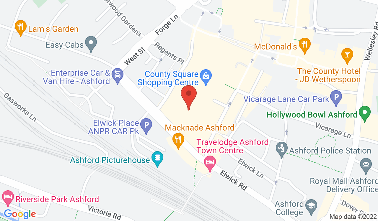 Google Map of River Island, Ashford, UK