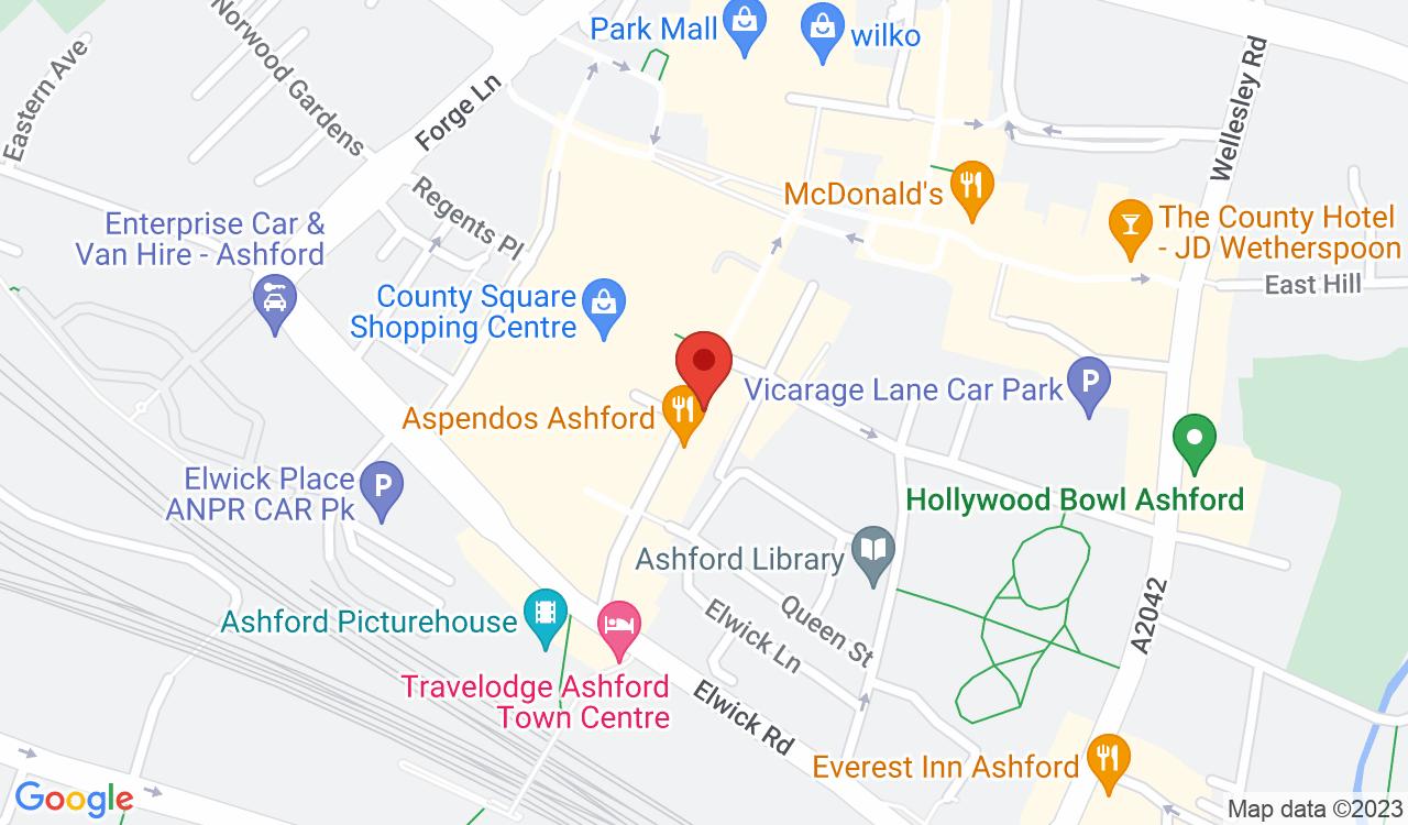 Google Map of RG Studios, Ashford, UK