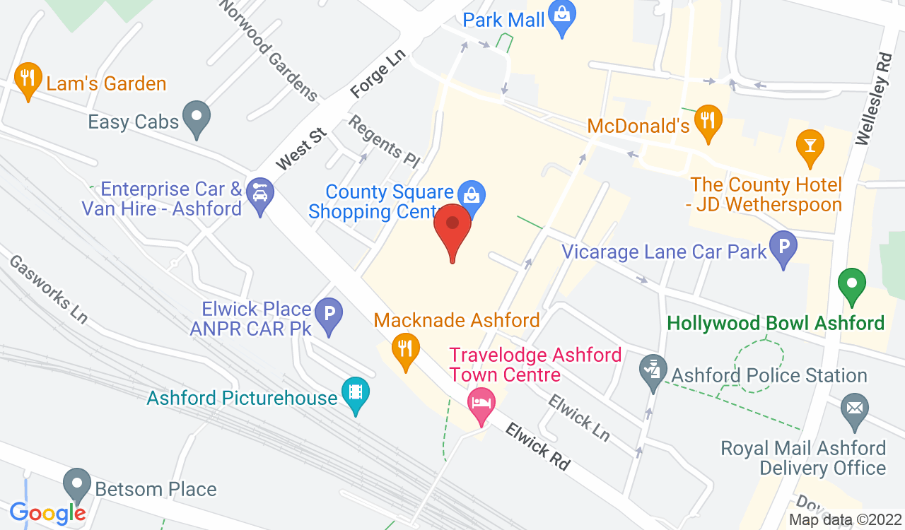 Google Map of Ashford News, Ashford, UK
