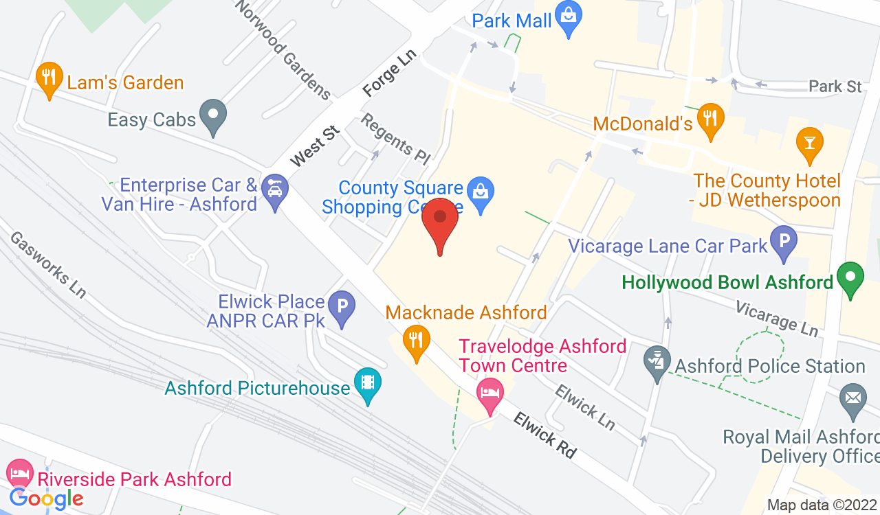 Google Map of Yours Clothing, Ashford, UK