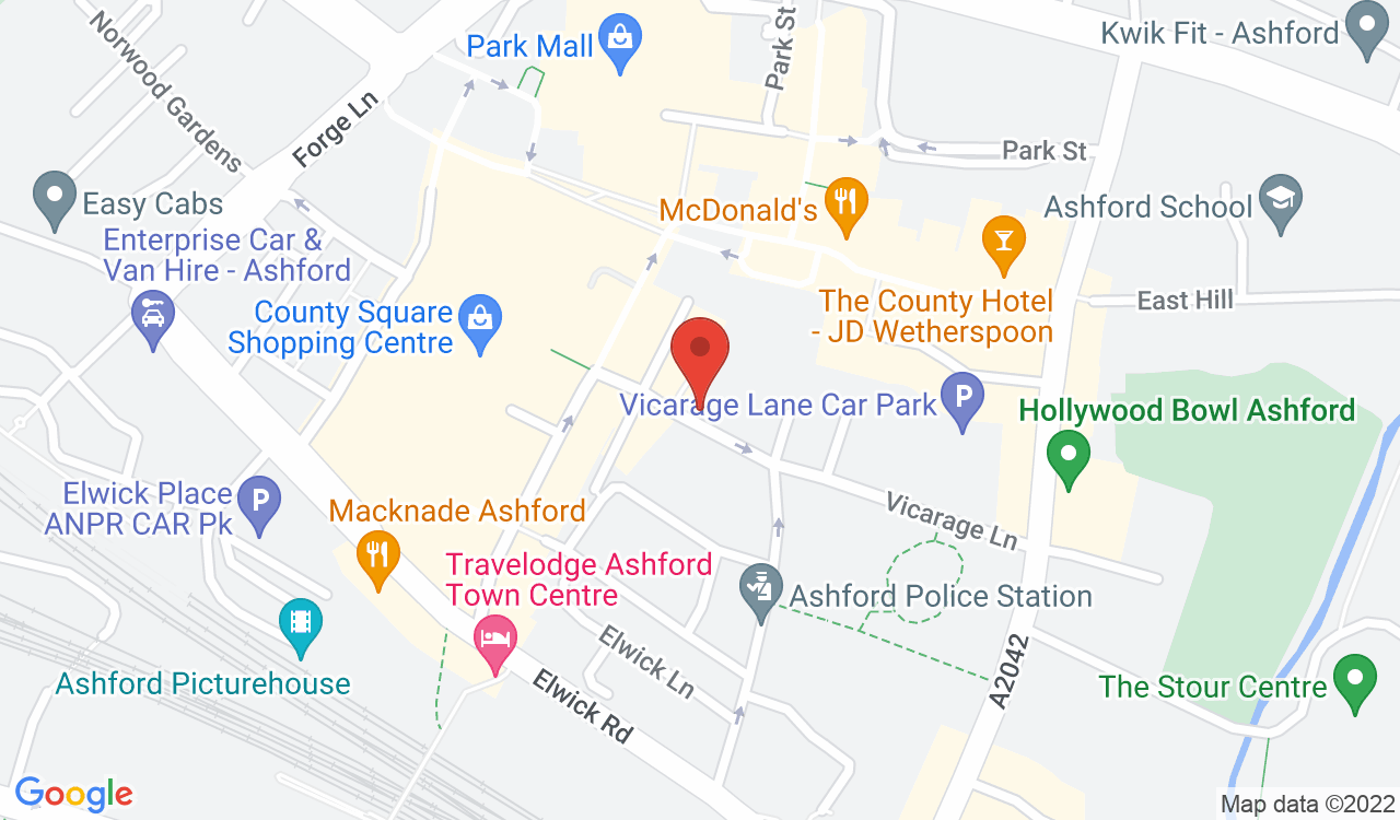 Google Map of Smith Woolley, Ashford, UK