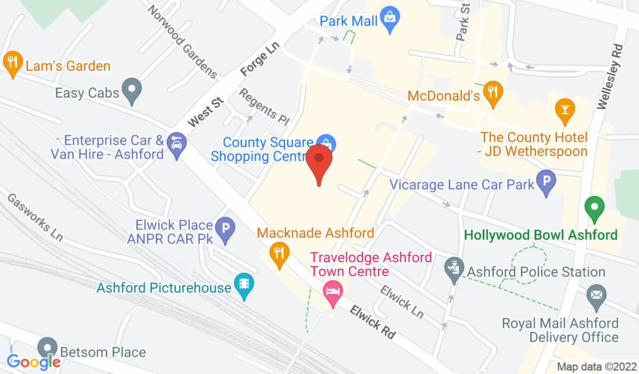 Google Map of The Works, Ashford, UK