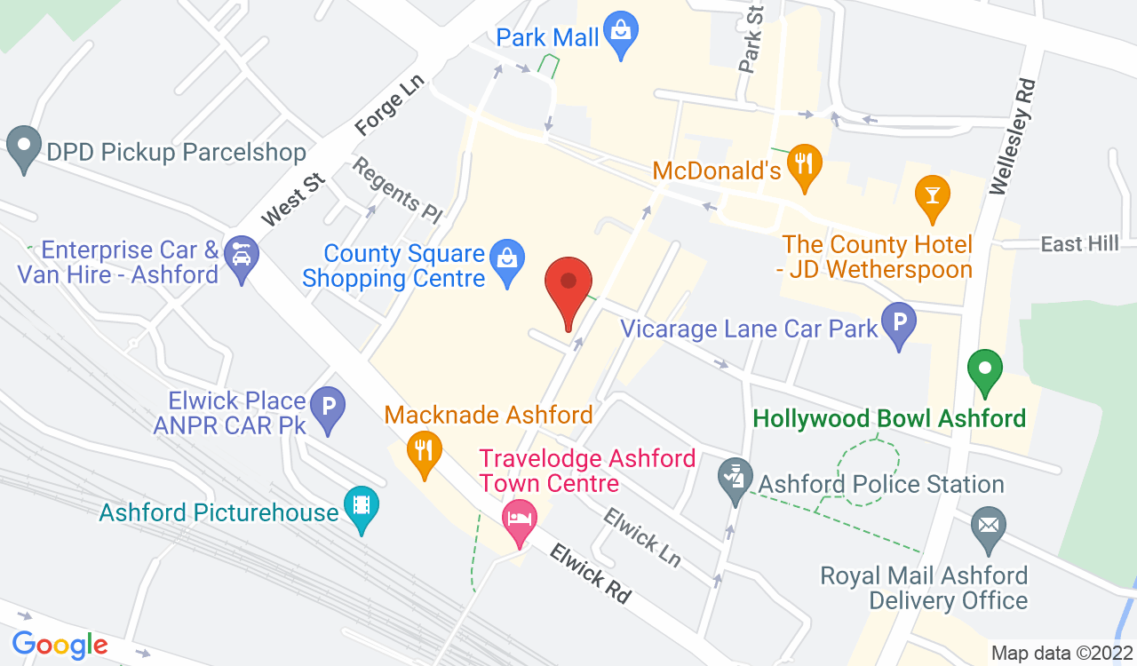 Google Map of SUBWAY, Ashford, UK