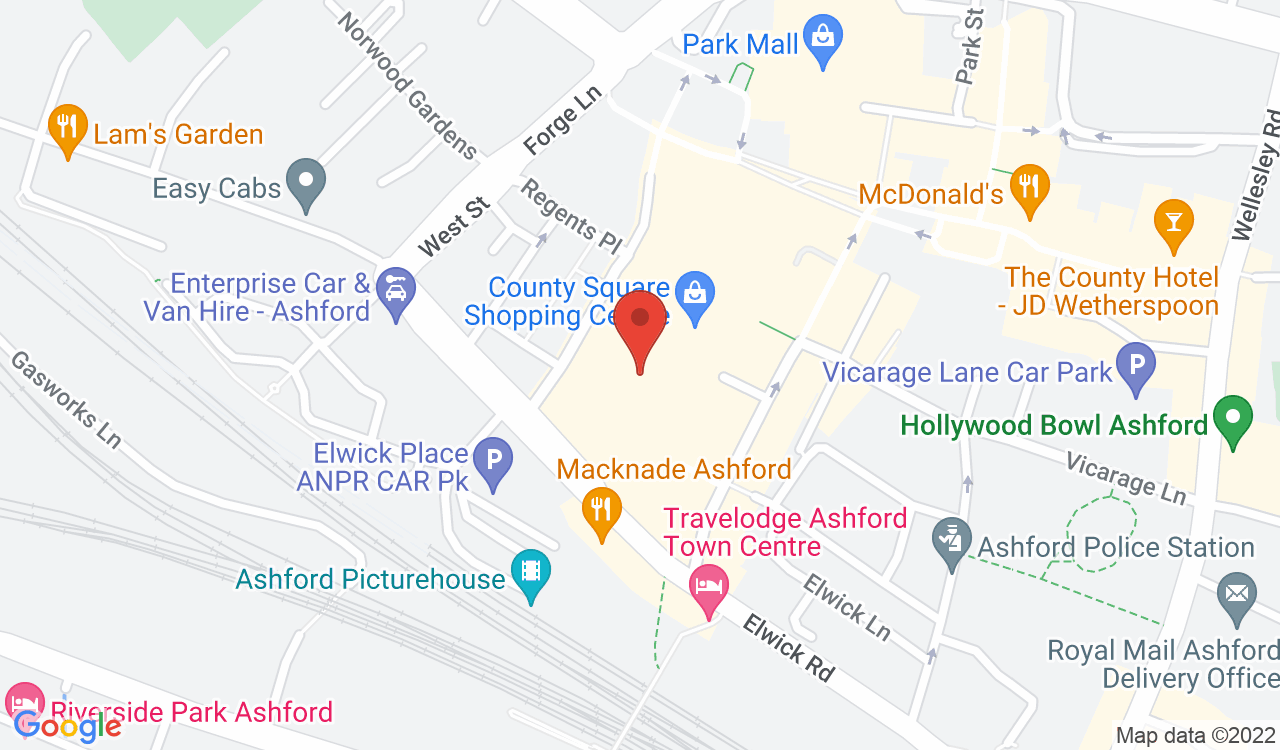 Google Map of Waterstones, Ashford, UK