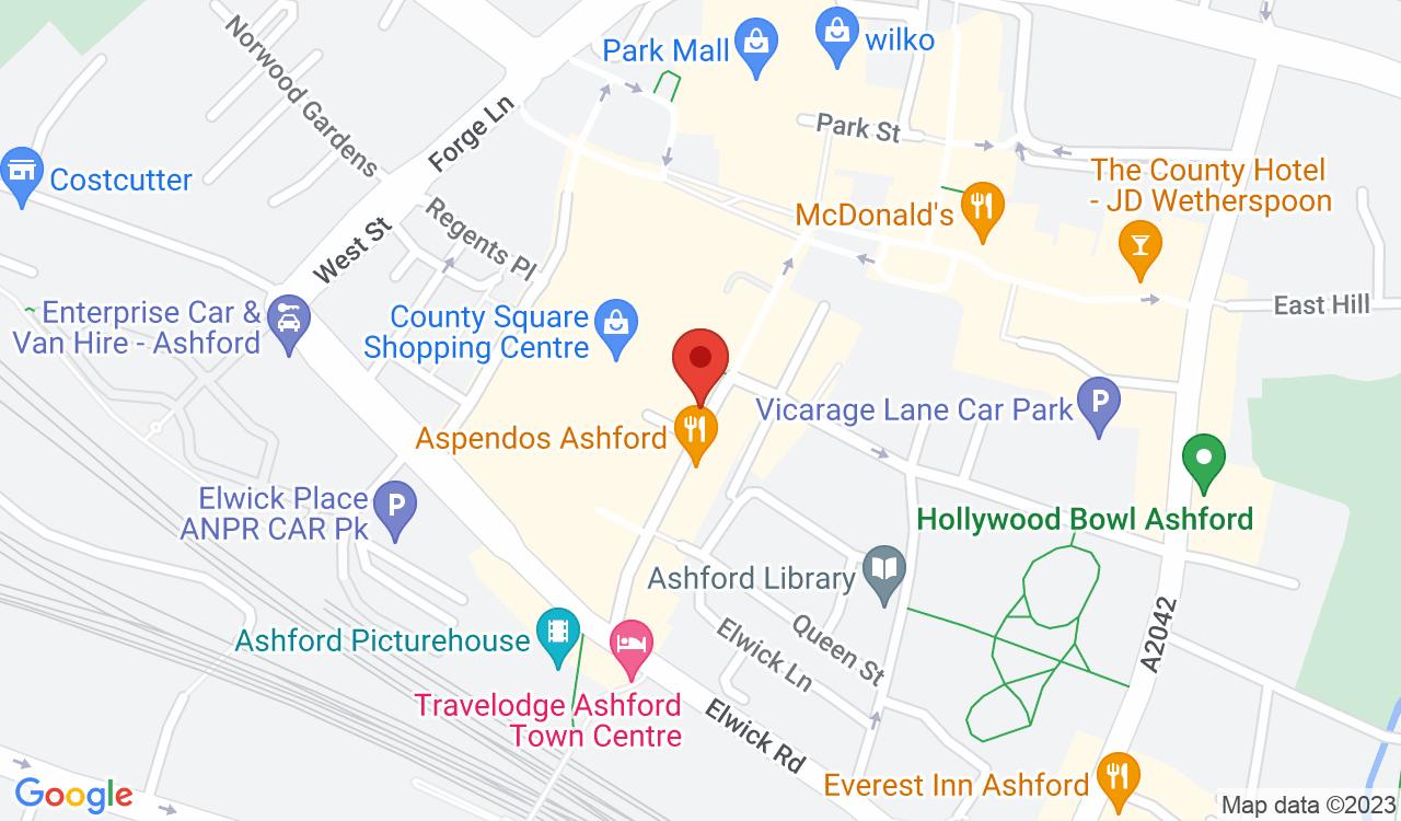 Google Map of I-Zone, Ashford, UK