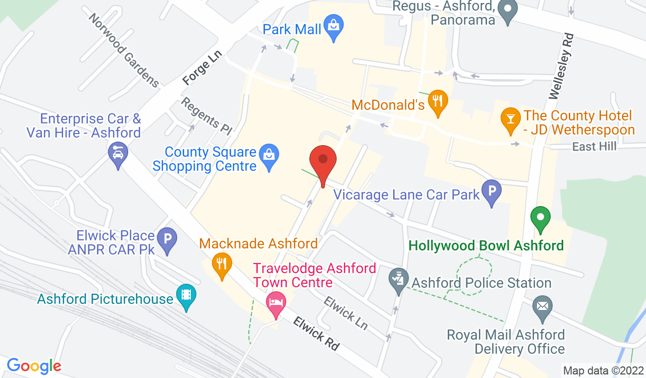 Google Map of Lesley's Florist, Ashford, UK