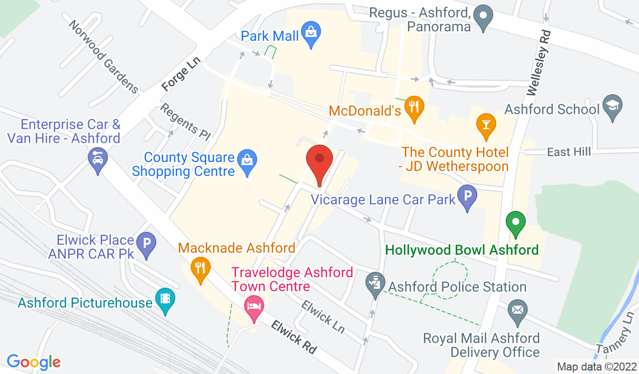 Google Map of Post Office Ltd - Ashford, Ashford, UK