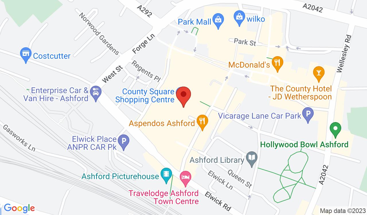 Google Map of The Body Shop, Ashford, UK