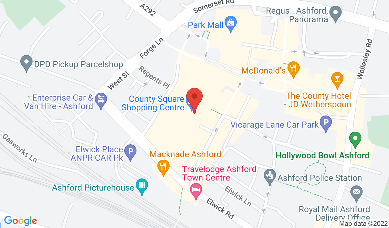 Google Map of TUI County Square, Ashford, UK