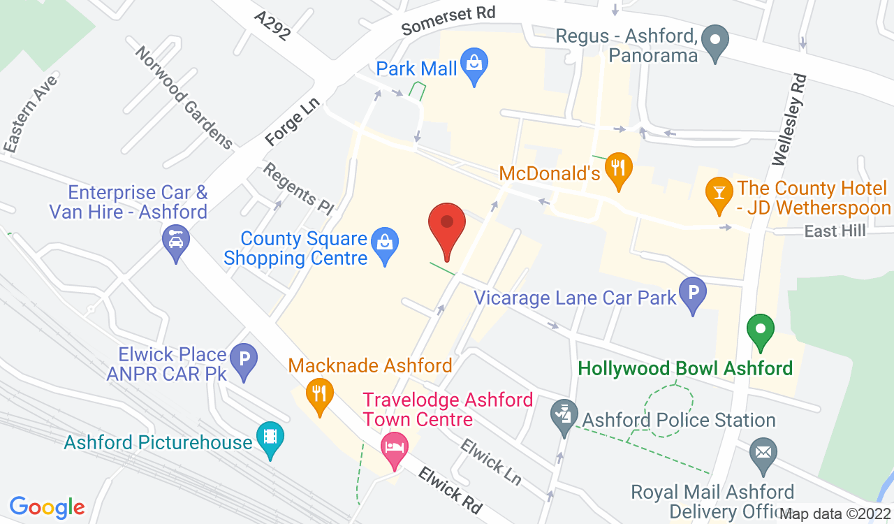 Google Map of TREND Hair, Ashford, UK