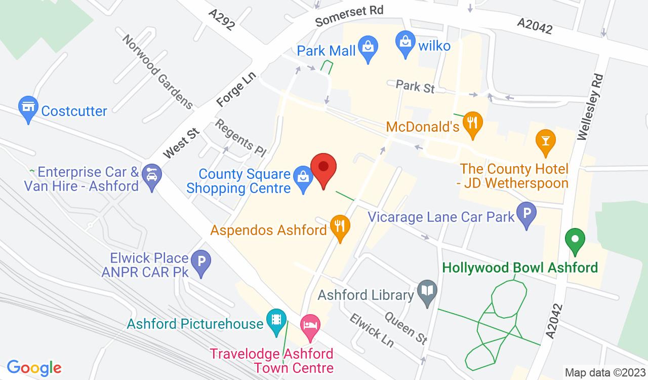 Google Map of No1 Currency, Ashford, UK