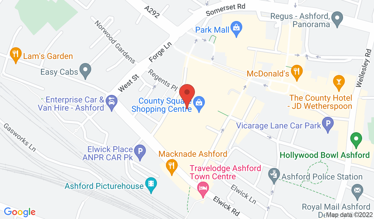 Google Map of Select Fashion, Ashford, UK