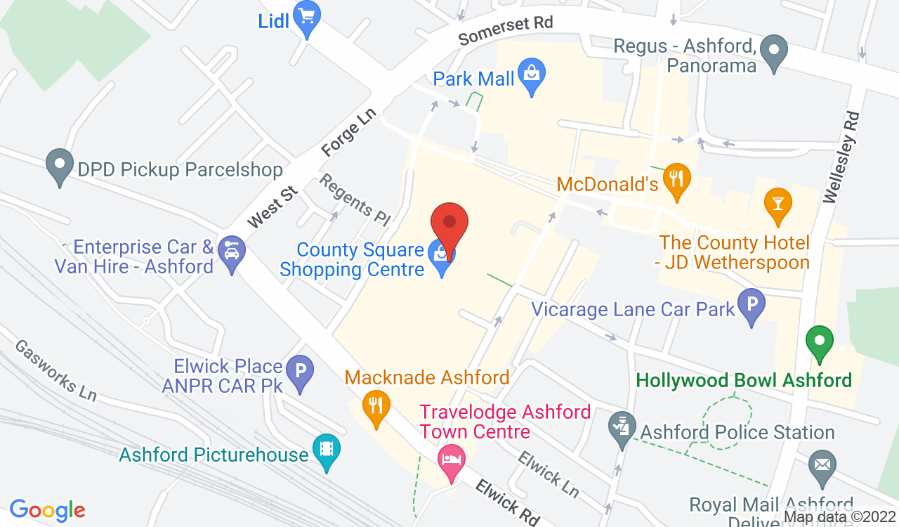 Google Map of The Carphone Warehouse, Ashford, UK