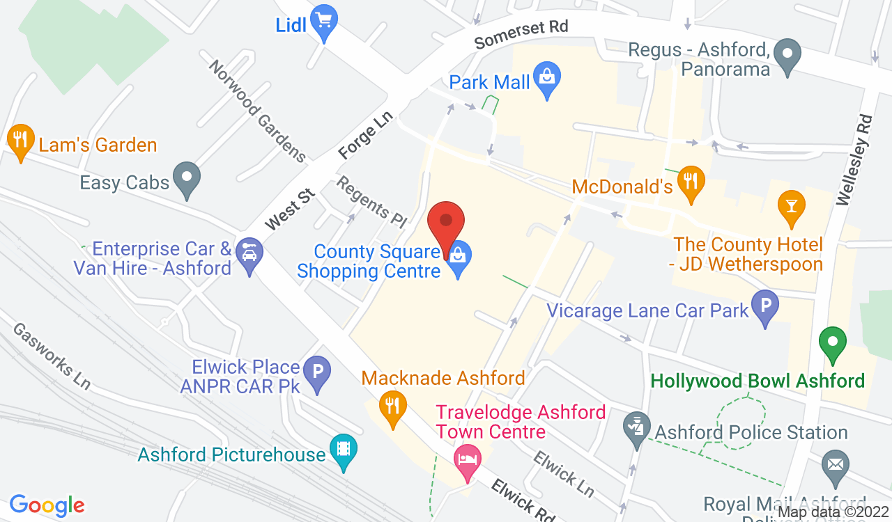 Google Map of Specsavers Opticians Ashford, Ashford, UK