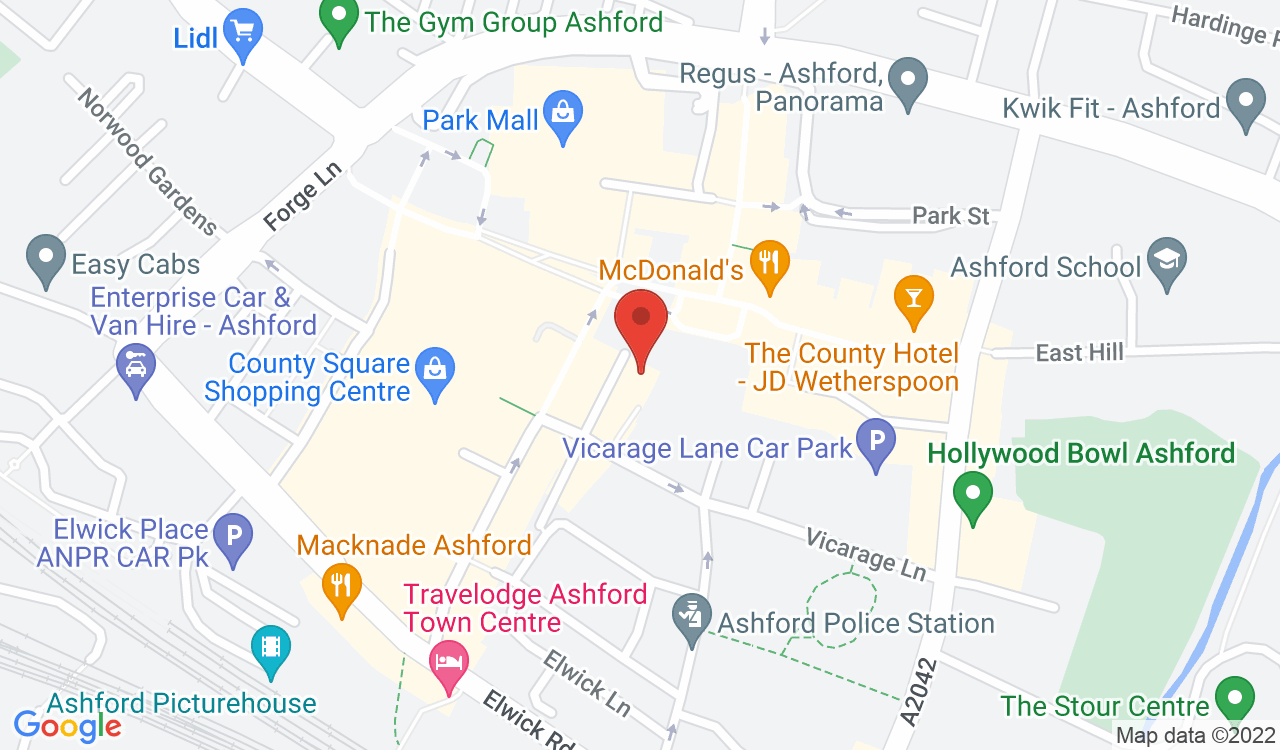 Google Map of Ashford Borough Museum, Ashford, UK