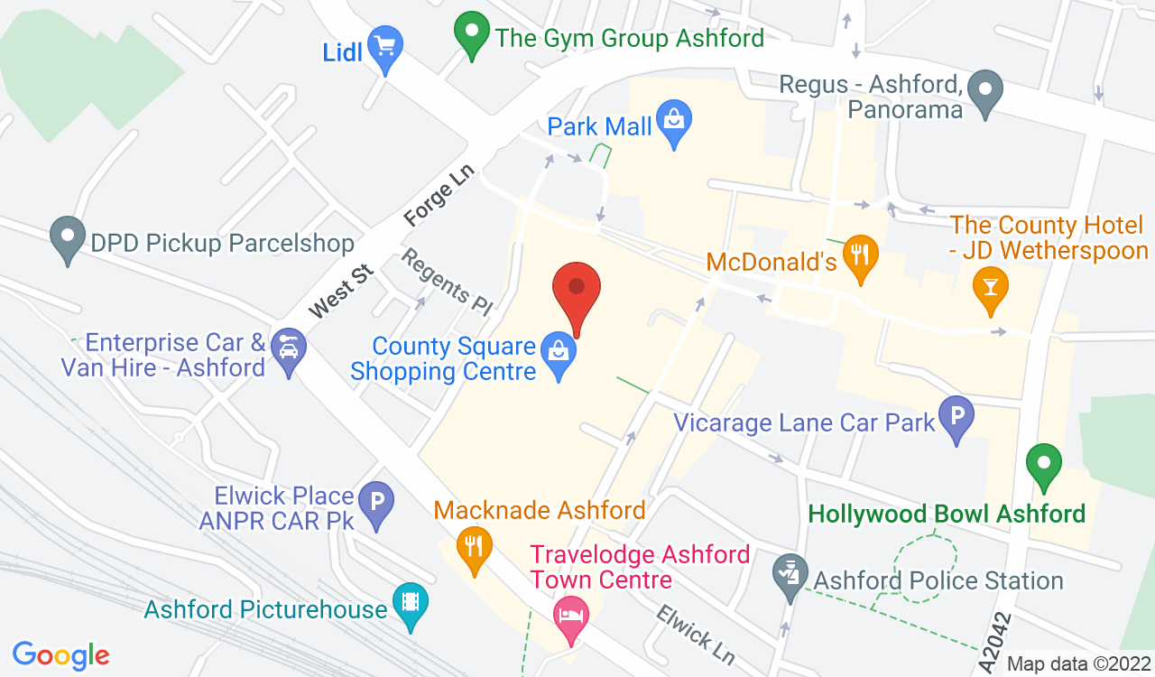 Google Map of Costa Coffee, Ashford, UK
