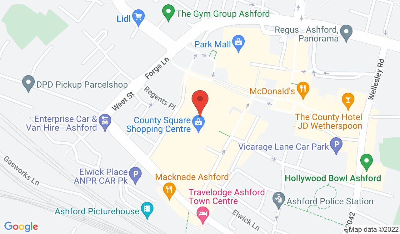 Google Map of EE, Ashford, UK