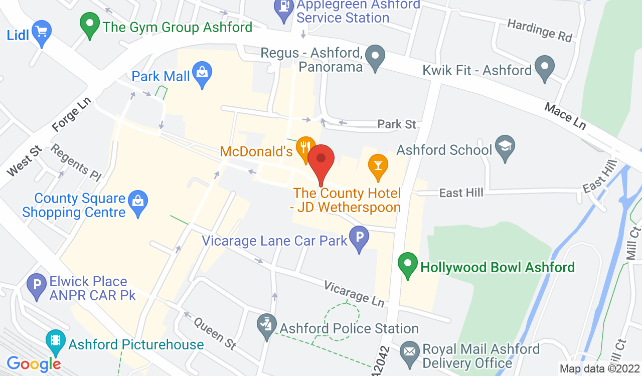Google Map of Gurkha Jewellers, Ashford, UK