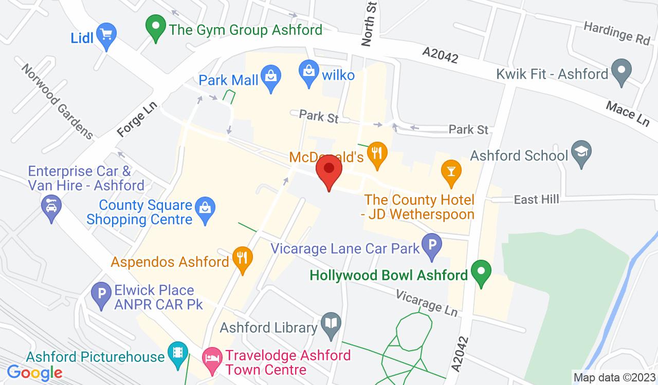 Google Map of Linda's Florist, Ashford, UK